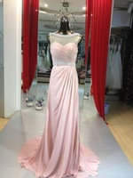 2014 elegant chiffon evening dress the 6-8-10-6-8-10 or the custom size
