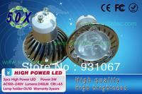 high power GU10 3W 6W led Bulb Lamp Dimmable Cold white/warm white AC85-265V GU10 LED BULB DHL Shipping 50pcs/lot