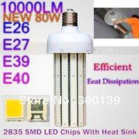 2014 80w Led Corn Light 10000lm (800pcs 2835 SMD) Replacement Lamp CFL 250W, E27 e40 E39 Energy Saving Excellent heat exchange