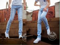 Russia Brazil Light blue 830 men's clothing small trousers jeans slim pencil pants jeans trousers Wholesale Promotion