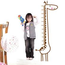 Novas Adorável Giraffe crescimento dos miúdos crianças Chart Altura Medida Quartos DIY decoração de casa adesivos de parede decalques Drop Shipping HG- 06261(China (Mainland))