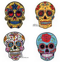 20140314 Hallucinogenic logo skull fabric epaulette diy armatured