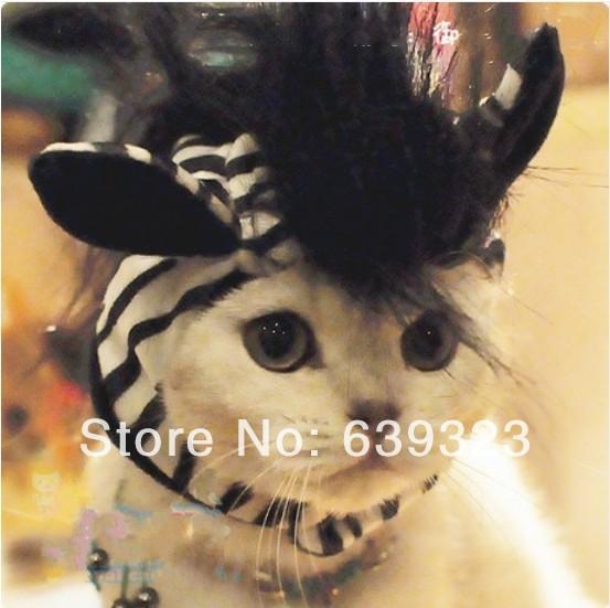 Zebra Pet Costume Dog Costume Hat Zebra