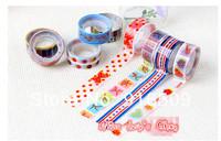 Free ship 1lot=100pcs .New fashion washi masking striped DIY tape/cute adhesive tape / DIY sticker label/wholesale