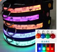 022250Dog collar The dog leash  flash luminous orange  The dog chain   strong  convenient  beautiful  security  fashion