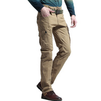 men casual pants Spring 2014 fashion new young multi- pocket overalls leisure trousers Slim Straight Men