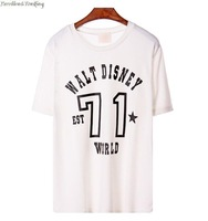 2014 famous Guodong door fashion the letters loose female T1213 round collar T-shirt with short sleeves