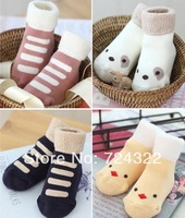 20pairs wholesale outdoor warm Toddler kids ruffle Children socks boys shoes girl cartoon baby anti-slip sock Free shipping