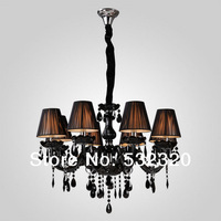 Free Shipping Black Color Decorative Modern Crystal Chandelier For Home And Hotel With 8 Lights