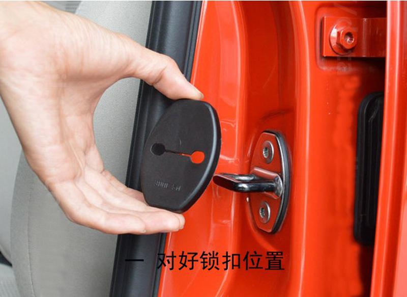 Car door lock buckle cover for Toyota Yaris,Highlander,Prado,Prius,Corolla, Camry 06-11,Rav4 07-12,Reiz,Vois 09-13(China (Mainland))