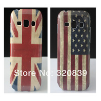 2 x Retro USA/UK Flag Hard Skin Cover Case For Samsung Galaxy Ace3 S7272 S7270 Wholesale