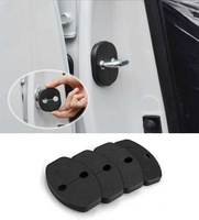 Free shipping 4pcs Set AD01 Car Door Lock Protective Cover Striker Hook For Skoda Octavia 2010-2012 LEON