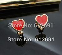 Fashion non pierced ear clips charms heart earring Christmas gift 2014 ear cuffs on earrings FREE SHIPPING LM-C255