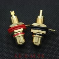 10PCS Brass Female RCA Jack Amplifier DAC CD Speaker Audio Connector Terminal