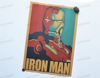 IRON MAN, Classical Movie Retro Cartoon Version Kraft Paper Posters, Vintage Decorative Paintings/Pictures for Home Decor
