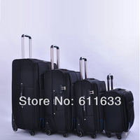 large capacity universal wheel travel luggage bag,20 24 28 inch black/purple/brown color available,high quality nylon bag
