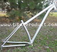 Titanium MTB Frame 27.5 Wheel Tapere Headtube/Bent Seattube/PF30 BB Shell