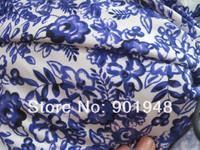 blue and white porcelain printed 82/18 nylon/spandex swimwear , bikini fabric