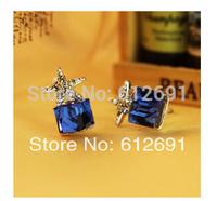 Korean non pierced ear clips stars crystal earring Christmas gift 2015 ear cuffs earrings LM-C261