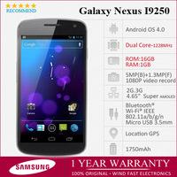 "I9250 Original samsung galaxy nexus i9250 Unlocked Dual-core Phone 4.65"" Android 4.0 16GB Wifi GPS 3GB Free Shipping Refurbished"