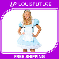 10pcs/lot Wholesale 2014 New French Maid Costumes, School Girl Costume, Party Costumes, Factory Sell, PCG008
