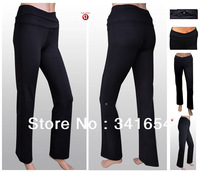 LULULEMON ASTRO PANTS,2013 Best Seller High Quality Lulu Yoga Pants/Sport Pants Free Shipping Cross Black Color Waistband