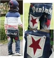 RK0036 Free shipping top quality kids jeans fashion boy's casual denim pants autumn cotton children trousers retail