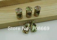 10pcs SHIPPING Barrel Bolts For Beds Cribs Chairs M8 8x15mm Cross Dowel Slotted Furniture Nut