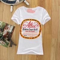 Fashion women's loose short-sleeve cotton t-shirt top 2014 short-sleeve o-neck t shirt white new hot selling cheaper wholesale