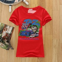 2014 summer women's short-sleeve t-shirt fashion all-match pure loose o-neck women's short-sleeve shirt red cheaper wholesale