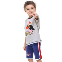 2014 Spring new wholesale 5pcs/lot 18m/6y  kids fashion baby boy short sleeve T-shirts fit summer child's peppa pig clothes