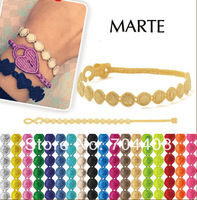 Free shipping Popular colorful wristband Italy Lace Embroidered Super marte Bracelet Mixed color