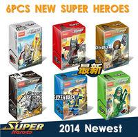 With BOX 2014 NEWEST Minifigures 6pcs/lot  Super Heroes The Avengers Odin Green Arrow Venom Cyclops Winter Soldier Batman