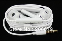 Free/Fast Shipping+5pcs 1:1 original EarPods Earphone with Mic For SAMSUNG GALAXY S3 S4 Note Note3 N7100 MobilePhone earphone