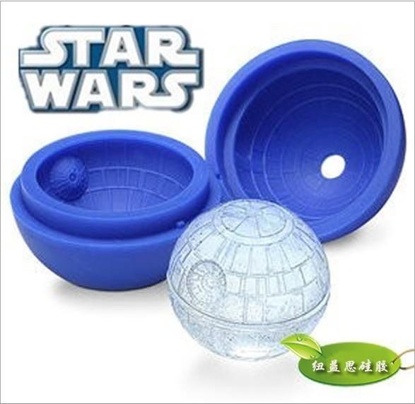 Creative alien silicone ice hockey Star Wars ice hockey mold Death Star Wars silicon mold(China (Mainland))