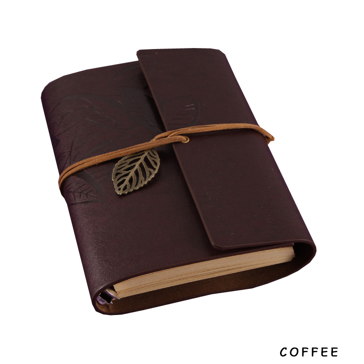 Vintage Faux Leather Notepad Journal Notebook Retro Craft Spiral Diary Journals Book Stationery 10Colors Drop Shipping 06247-CE(China (Mainland))