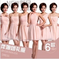pink bridesmaid dresses woman 2014 vestidos de fiesta bridesmaid dress under $50 cheap price 6 style  2034free shipping