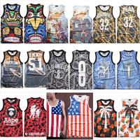 free shipping 2014 men/women Gradient Star jersey vest trend Cotton Tanks Tops M/L/XL