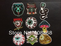 New 9 Pc Mishka Death Adders Eyeball Snake Ring Vinyl Stickers Guitar Skateboard Suitcase Decorative PVC Decal FREE SHIPPING