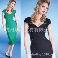 free shipping hot selling new spring 2014 women casual dress, retro  aristocratic elegance women dress