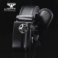 Men Genuine Leather Automatic Belt Brand Steel Buckle Belts for Men pk223