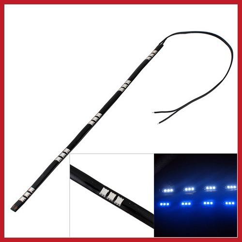 full new bidwise 5050 SMD 15 Led Lamp String Waterproof Flexible Car Bar Light Strip 30CM Blue Hot economically(China (Mainland))