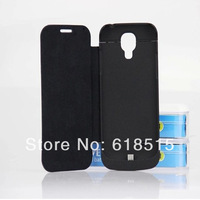 10pcs 3200mAh Backup Battery Charger Case with Leather Cover for Samsung Galaxy S4 mini i9190 with Retail Package