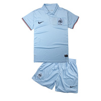 2013 - 14 france team jersey national team away game soccer jersey light blue short-sleeve