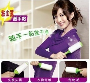2pcs/lot.Sticky Buddy Dust remover lint roller lint brush for clothe sweater hair removal brush(China (Mainland))