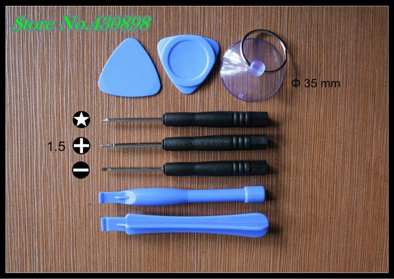 200 set / bag/ 8 pcs repair tools combination set/screwdriver / pry bar / triangle pry / sucker/repair iPhone / Blackberry(China (Mainland))