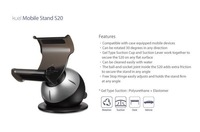 Kuel S20 Mobile Car Mount Desk Stand Holder for iPhone 4 4S Samsung Smartphone Red Blue Gray