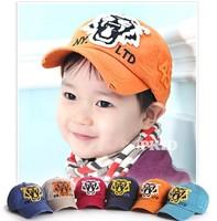 2014 autumn child baseball cap tiger head male female child hat baby cap children