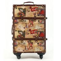 Love cupid fashion travel luggage bag trolley luggage 14 2022 24 universal wheels fashion set,female lovely travel bags on wheel