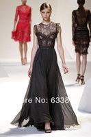 Free shipping   European and American ultra-elegant beautiful dress embroidered silk dress Xianlei Si dresses 2014